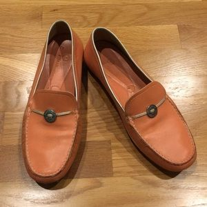 Cole Haan Driving Moccasins in Peach Pink